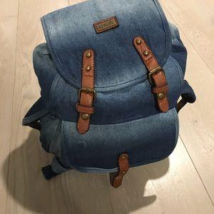 Handbags - Denim Backpack